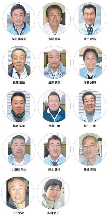 多田石材店のスタッフ